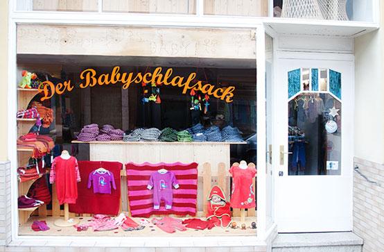 Das Geschäft von Babyschlafsack